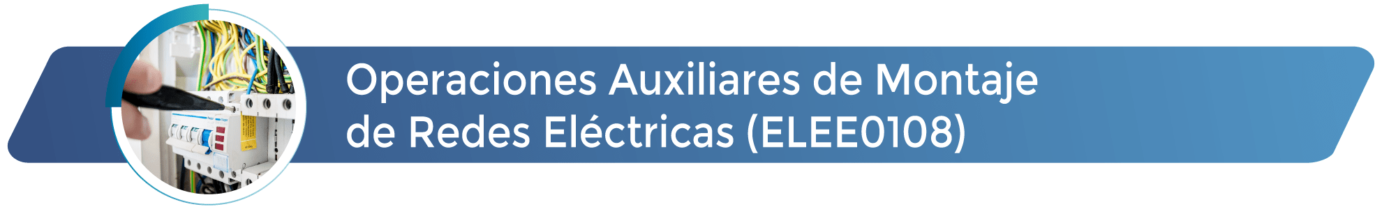 ELEE0108 - Operaciones Auxiliares de Montaje de Redes Eléctricas