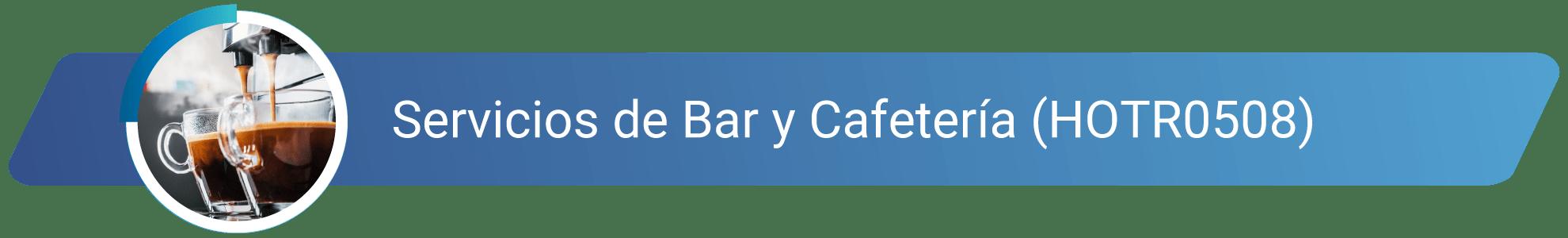HOTR0508 - Servicios de Bar y Cafetería