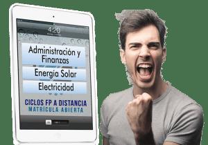 Promo sorteo iPad por solicitar información de nuestros ciclos de FP a distancia de Administración y Finanzas, Energía Solar y Electricidad