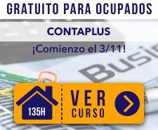 Curso Online de Contaplus gratuito para ocupados del sector Comercio en Instituto Focan