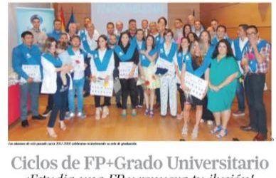 """Especial Formación Prensa """"Ciclos de FP + Grado Universitario"""""""