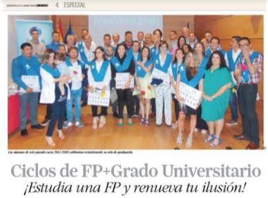 Especial Formación Prensa «Ciclos de FP + Grado Universitario»