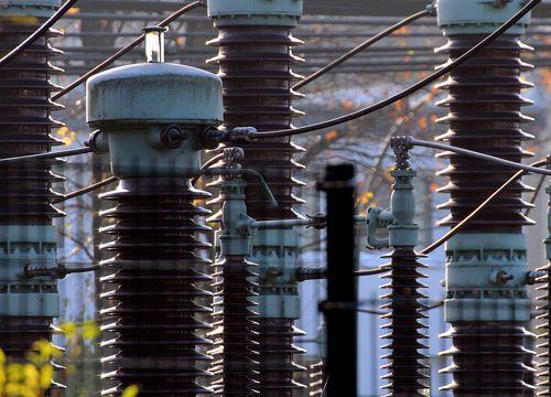 Vista exterior de una central eléctrica