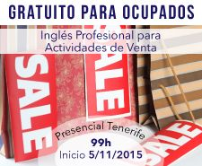 Curso de Inglés profesional para actividades de ventas en Focan Tenerife. Gratuito para ocupados