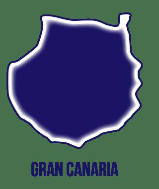 icono isla de Gran Canaria. Listado provisional de cursos para desempleados