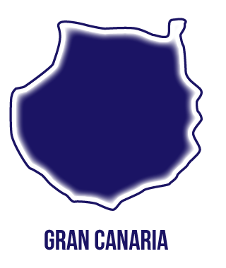 Silueta isla de Gran Canaria. Matrícula cerrada cursos ocupados