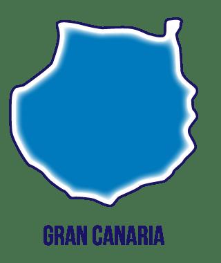 Silueta isla de Gran Canaria.