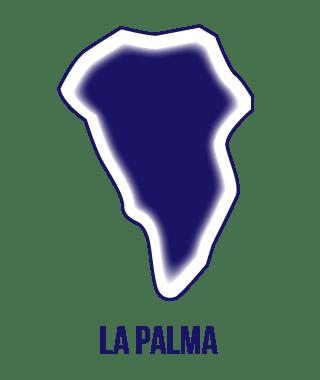 Silueta isla de La Palma