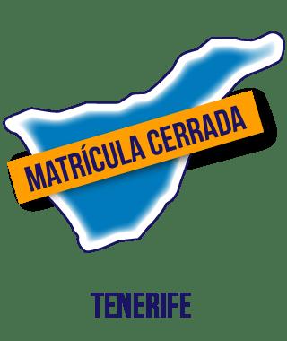 Silueta de la isla de Tenerife en color azul