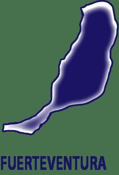 Silueta isla de Fuerteventura. Matrícula cerrada cursos ocupados