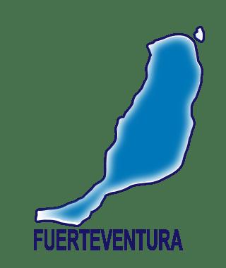 Silueta isla de Fuerteventura.