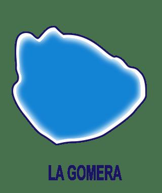 Silueta isla de Gomera